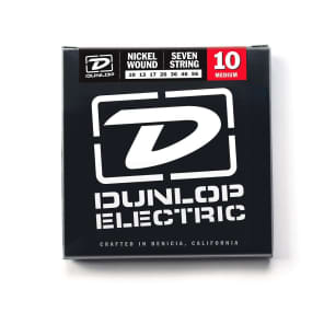 Dunlop DEN1056 Nickel-Plated Steel 7-String Electric Guitar Strings - Medium Light (10-56)