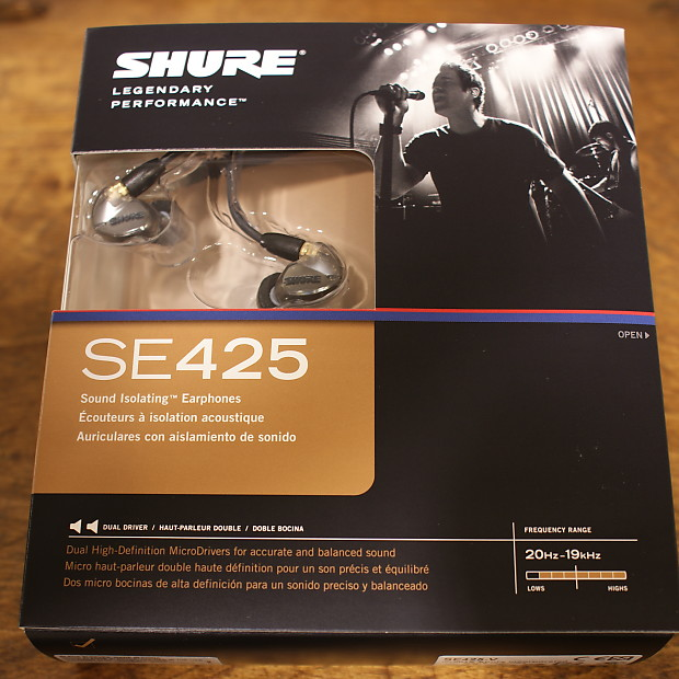 8428c5fbbae Shure SE425-V Silver Ear Buds / Earphones HeadphonesFREE US48 | Reverb