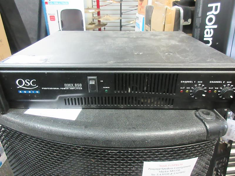 used qsc rmx 850 power amplifier springfield music reverb. Black Bedroom Furniture Sets. Home Design Ideas