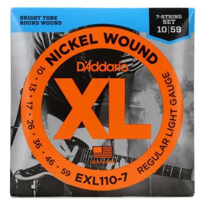 D'Addario EXL110-7 Electric Guitar Strings 7-String 10-59