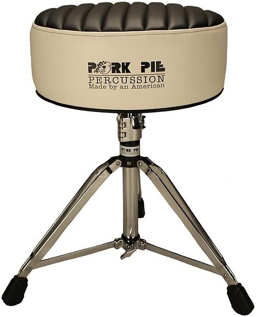 pork pie percussion deuce series round drum throne white reverb. Black Bedroom Furniture Sets. Home Design Ideas