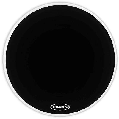 "Evans BD24MX1B MX1 Black Marching Bass Drum Head - 24"""