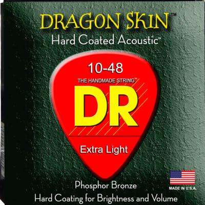 DR Strings DSA-10 DragonSkin Coated Acoustic Strings - Extra Lite, 10-48 for sale