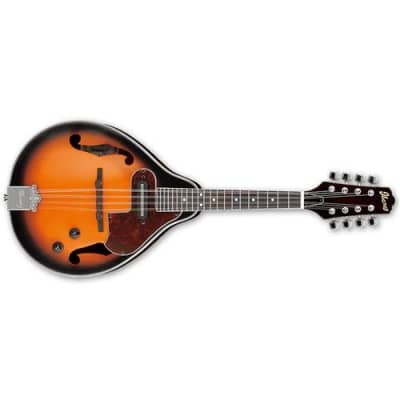 Ibanez M510E A-Style Mandolin, 20 Frets, Mahogany Neck, Magnetic Single Pickup, Rosewood Fretboard, Brown Sunburst High Gloss