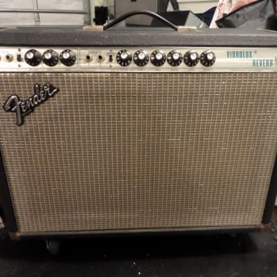 Fender Vibrolux Reverb 1970 Silver Face, Fully Sorted, Very Original, Cover, Casters 1970 Black