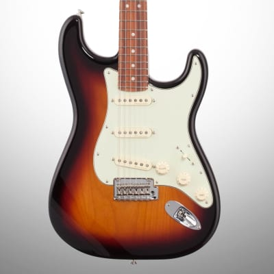 Fender Deluxe Roadhouse Stratocaster Electric Guitar (with Gig Bag), 3-Color Sunburst for sale
