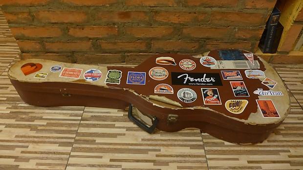 Vintage Guitar Case : vintage cardboard guitar case whith travel stickers reverb ~ Russianpoet.info Haus und Dekorationen