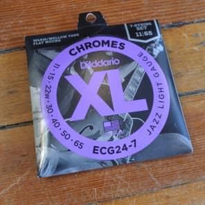D'Addario ECG24-7 7-String Chrome Flat Wound Electric Guitar Strings