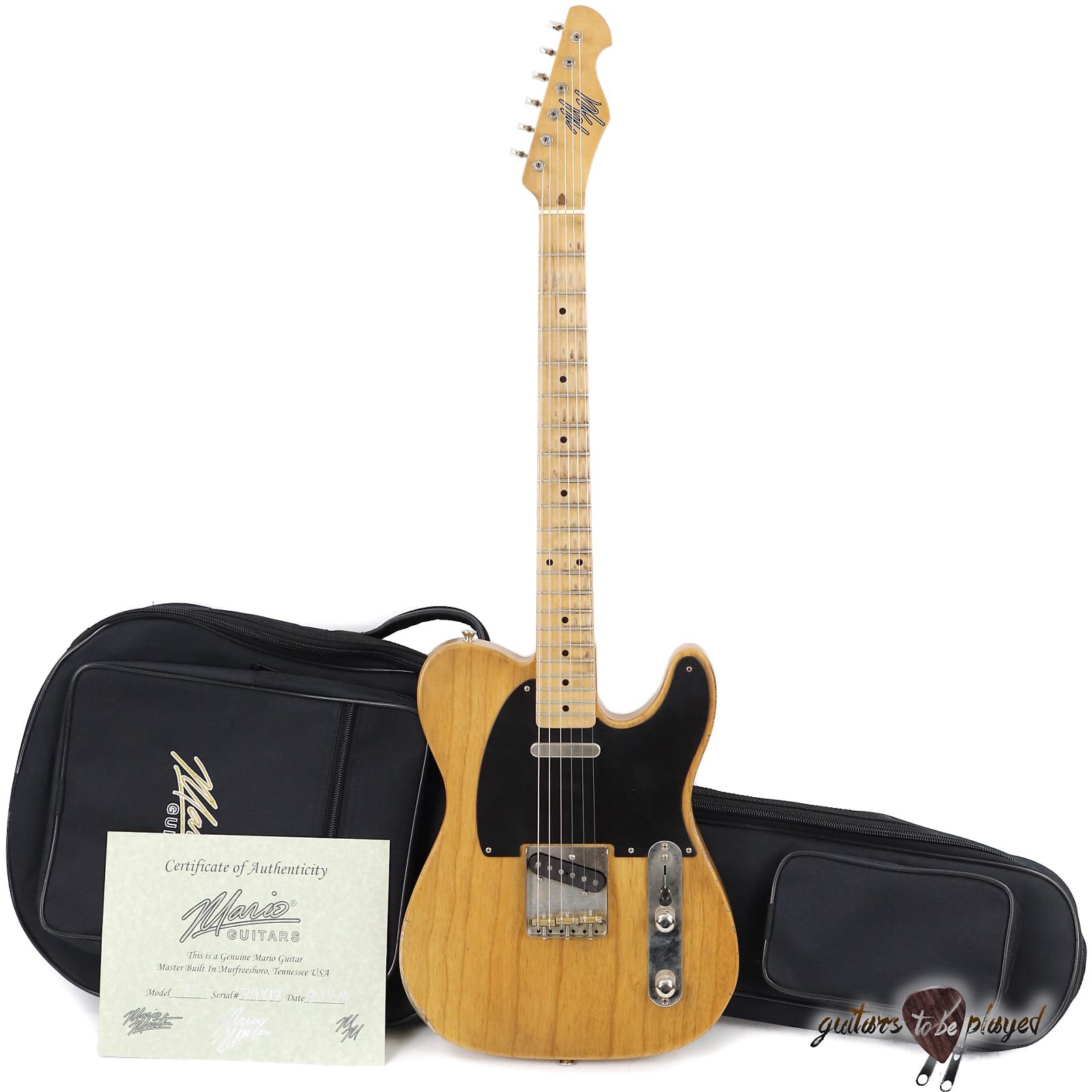 Mario Martin T-Style Guitar w/ 1-pc Swamp Ash Body & Budz 543 Pickups – 5lb 14oz
