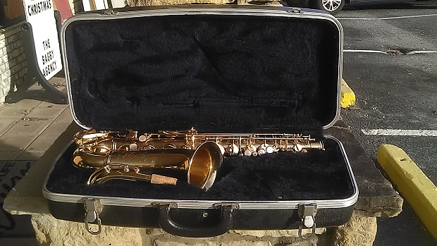 USED Conn Alto Saxophone w/ Shooting Star Design Made in Mexico