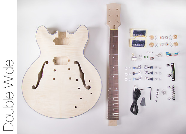 Do It Yourself DIY Electric Guitar Kit - 335 Style Hollow Body Build Your  Own