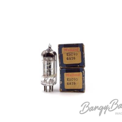 2 Vintage Mullard 6AT6/EBC90/CV452 Duplex-diode High-mu Triode Valve- BangyBang Tubes