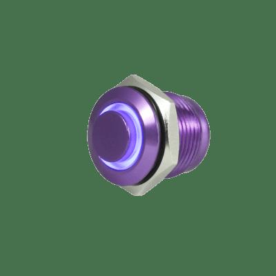 Tesi FILO 16MM LED Momentary Push Button Guitar Kill Switch Purple with Blue  LED
