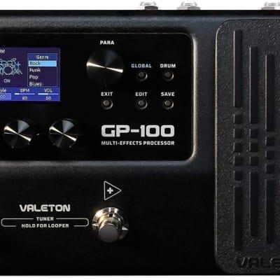 Valeton GP-100 Multi-Effects Processor Guitar Bass Multi Effects Pedal with 140 Built-in Effects 100
