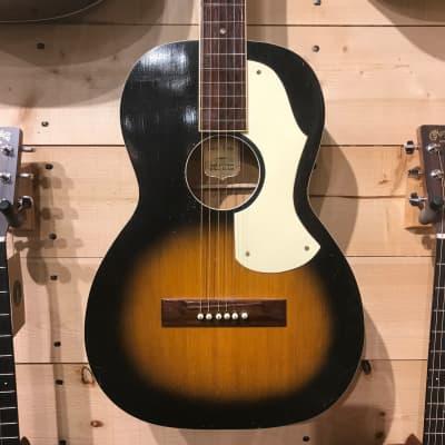 1930's Hensel Minerva Parlor Acoustic Guitar for sale