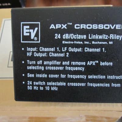 Electro-Voice APX Crossover Module, Vintage 1988, Black.