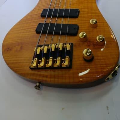 Roscoe LG-3005 5-String Bass Guitar with Hardshell Case