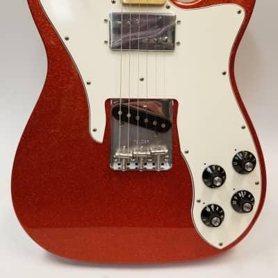Fender Limited Edition '72 Tele Custom Electric Guitar, Maple Fingerboard, Orange Sparkle W/Bag for sale