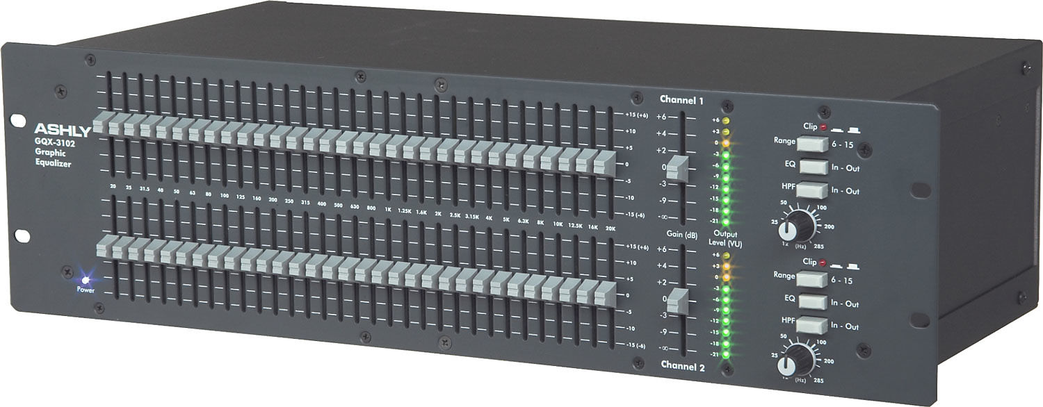 31-Band Graphic Equalizer Ashley GQX3102-2-Channel