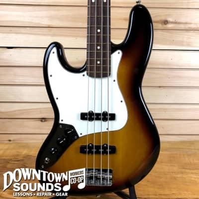 Fender Standard Lefty Jazz Bass - Pau Ferro Fingerboard - Brown Sunburst for sale