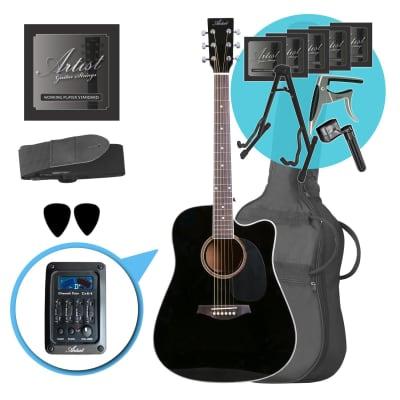Artist LSPCEQBK Ultimate Beginner Acoustic Guitar Pack for sale