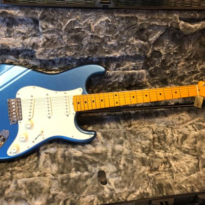 Fender Stratocaster Vintage 50s Limited Edition=rare Lake Placid Blue+competition stripe=collectible for sale