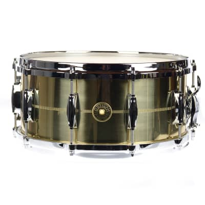 "Gretsch G4164SB USA Solid Spun Brass 6.5x14"" 10-Lug Snare Drum"