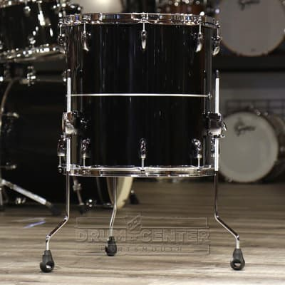 Pearl Masters Maple Complete 14x14 Floor Tom- Quicksilver Black