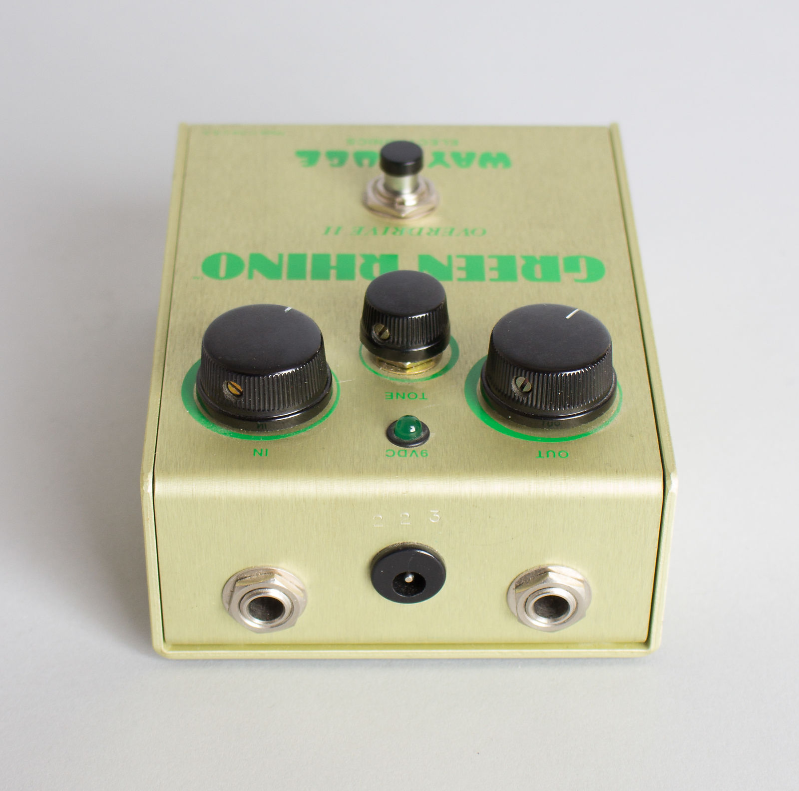 Way Huge Electronics  Green Rhino GR-2 Overdrive II Overdrive Pedal Effect,  c. 1998, ser. #223.