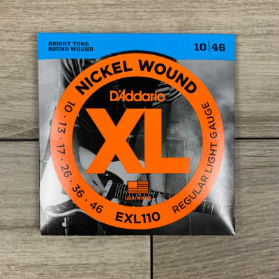 D'Addario EXL110 Nickel Wound Electric Guitar Strings, 10-46, Regular Light Set