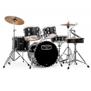 Mapex Voyager Black Full Drum Kit With Cymbals Reverb