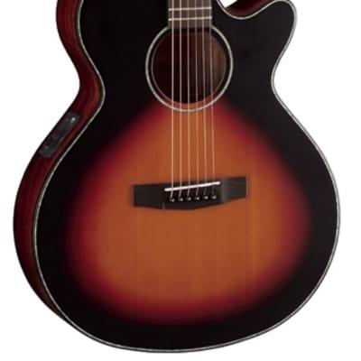 Cort  SFXE3TSS SFX Series Venetian Cutaway 6-String Acoustic-Electric Guitar - 3 Tone Satin Sunburst