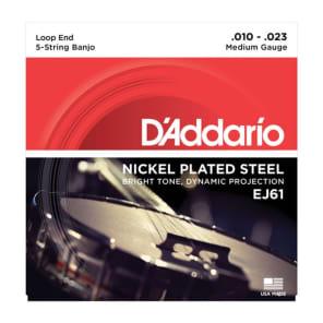 D'Addario J61 5-String Banjo Strings - Medium (10-23)