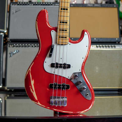 Japan Fresher  JB Jazz Bass 1976 Red Relic for sale