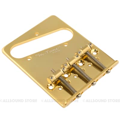 Gotoh BS-TC2 Brass In-Tune Saddle Dual Load Bridge for Fender Telecaster Tele - GOLD for sale