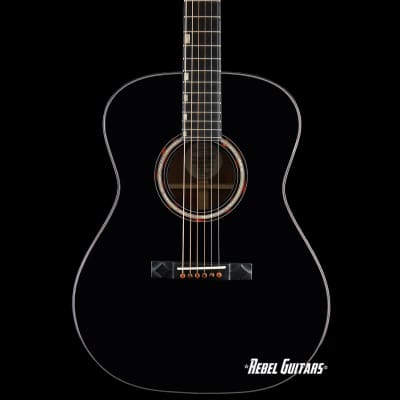 Preowned 2019 Knaggs Guitars Steve Stevens SS Potomac Acoustic in Black Ser#4 with Fishman Matrix for sale