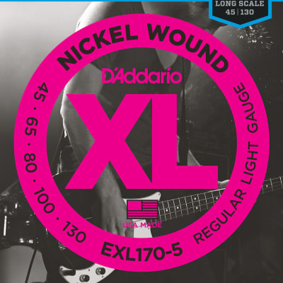 D'Addario XL Nickel Bass Strings - 45-130 - 5 String Long Scale