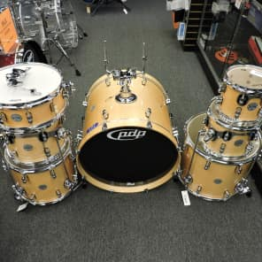 """PDP PDCM2217NA Concept Maple Series 7x8"""" / 8x10"""" / 9x12"""" / 12x14"""" / 14x16"""" / 18x22"""" / 5.5x14"""" 7pc Shell Pack"""