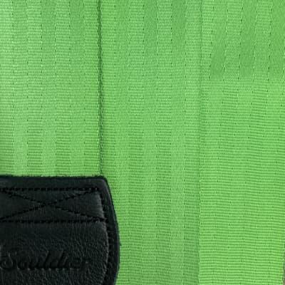 Souldier Lime and Black Plain Seat Belt Guitar Strap
