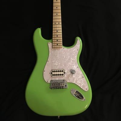 Custom Tom Delonge Electron Green Fender Stratocaster w/ Hardshell USA MIM for sale