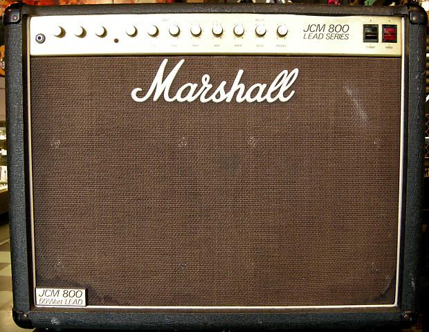 1986 marshall jcm 800 lead series 4212 50 watt 2 x 12 reverb. Black Bedroom Furniture Sets. Home Design Ideas