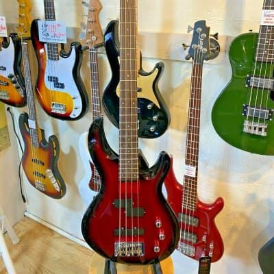 Aria Pro II Electric Bass Guitar IGB-STD Metallic Red Shade for sale