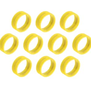 SuperFlex GOLD SFC-BAND-YELLOW-10PK Colored Cable ID Rings (10-Pack)