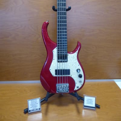 Modulus Graphite Neck Electric Bass Guitar  Red for sale