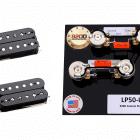 Duncan SH-1 Vintage Blues Pickup Set, Black Plus Les Paul Wiring Harness Long image