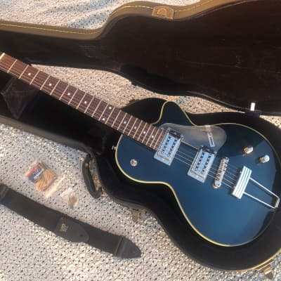 Peerless Jezebel Electric Guitar Midnight Blue -Peerless Hard Shell Case- key-Ernie Ball Strap for sale