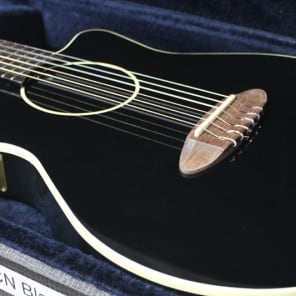 Carruthers ACN  acoustic  electric nylon string guitar  black for sale