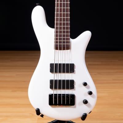 Spector Bantam 5 Bass Guitar - Solid White Gloss SN NB17651 for sale