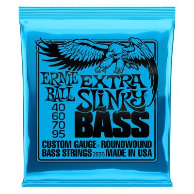 Ernie Ball 2835 Extra Slinky Nickel Wound Electric Bass Strings, 40-95 Gauge