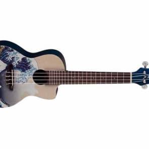 Luna Guitars Great Wave Concert Ukulele with Gig Bag for sale